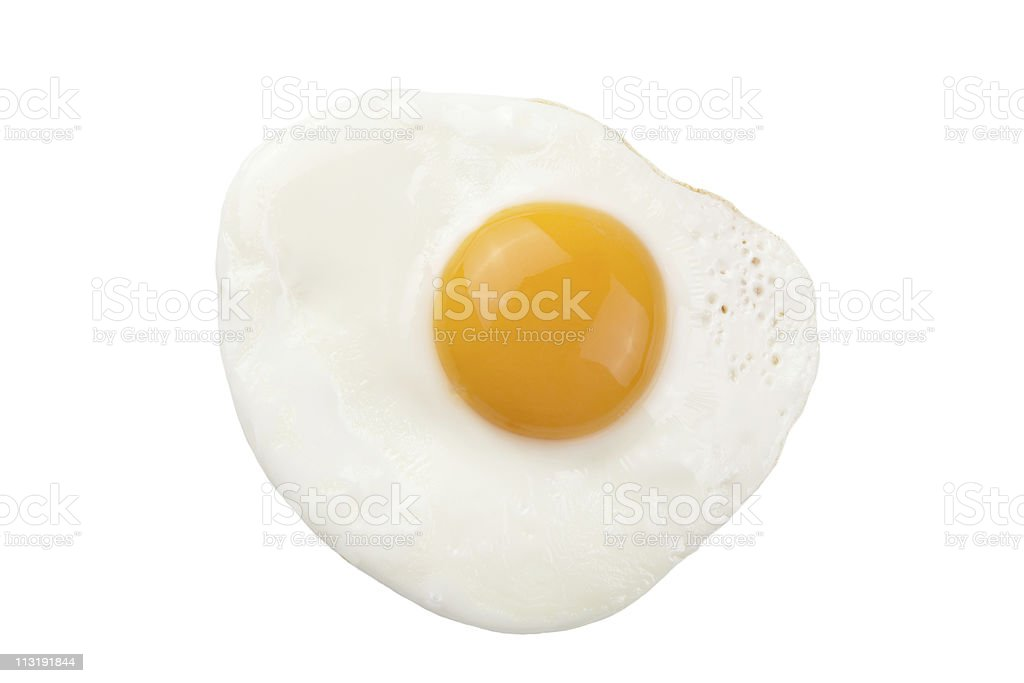 fried egg isolated stock photo