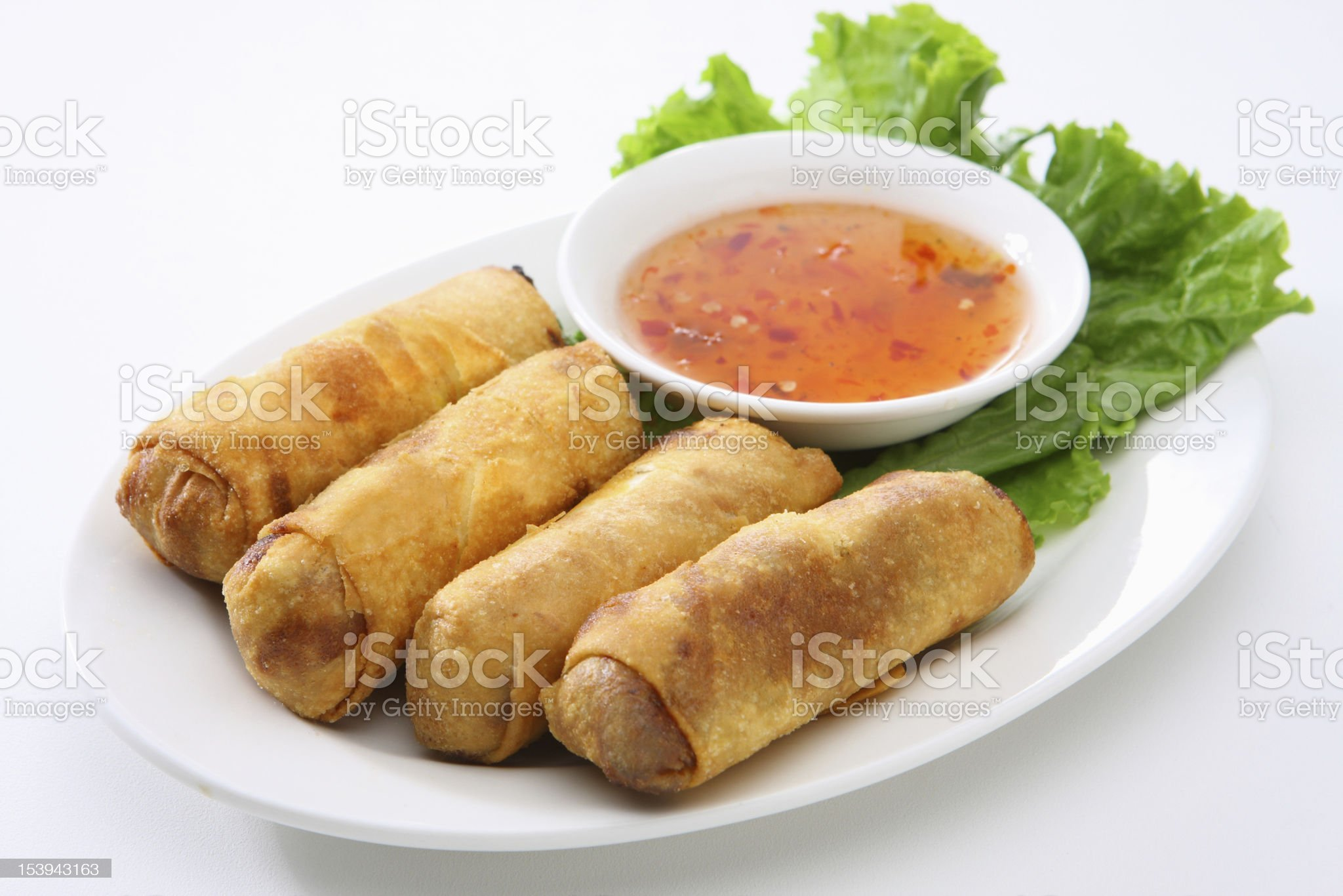 Fried Egg Rolls royalty-free stock photo