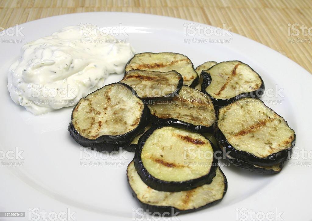 Fried Eggplant royalty-free stock photo