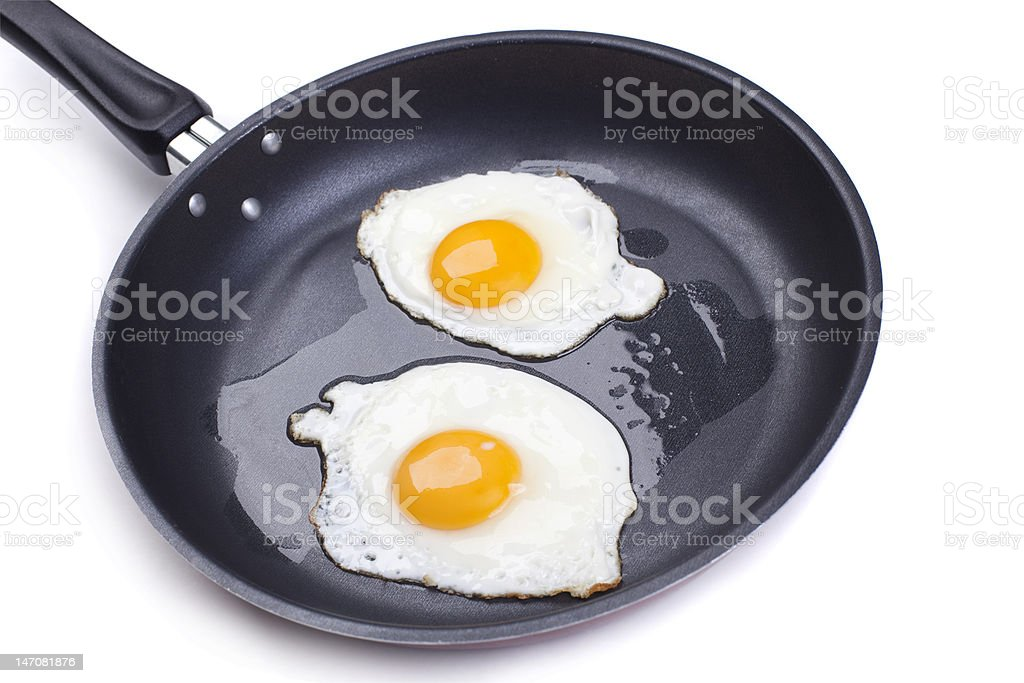 fried eggs royalty-free stock photo