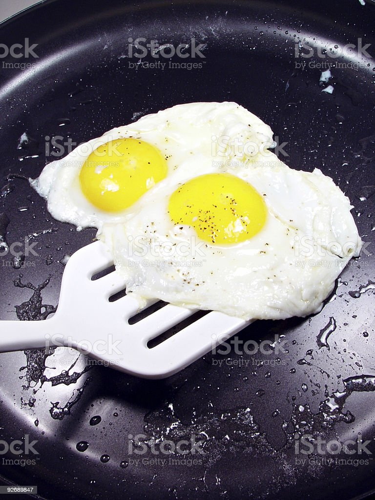 Fried Eggs, Sunny-Side-Up royalty-free stock photo