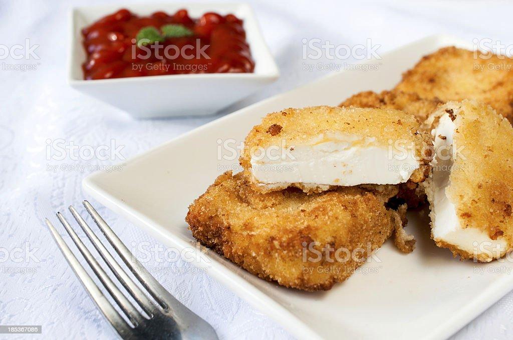 Fried feta royalty-free stock photo