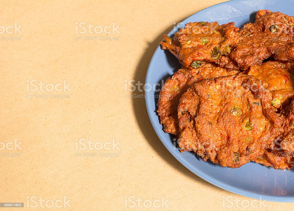 Fried Fish Cakes or Tod Man Pla stock photo