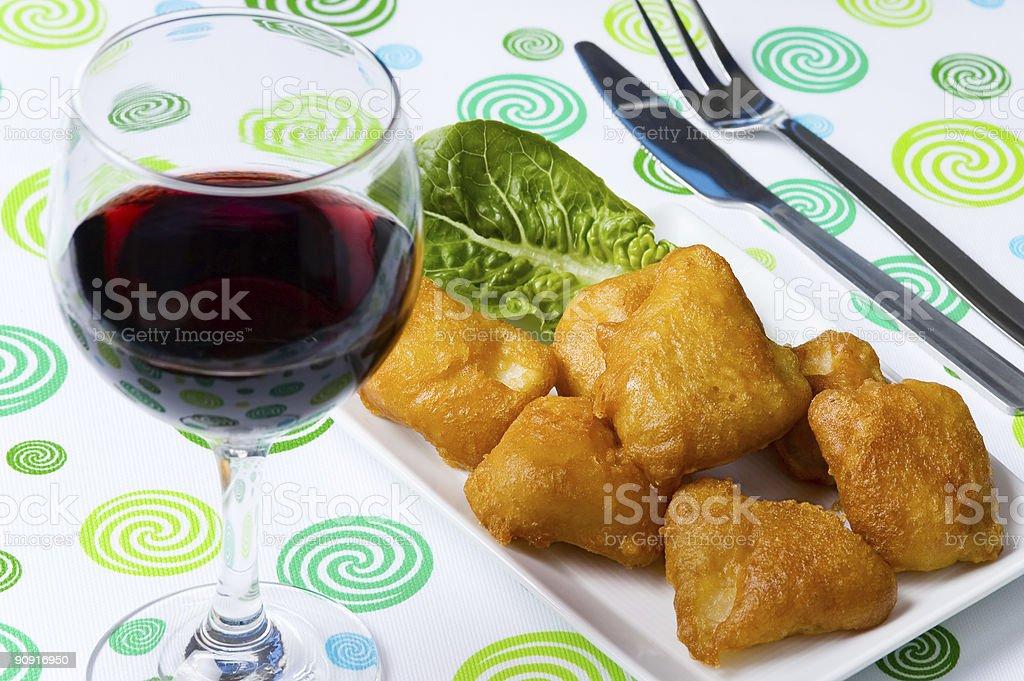 Fried fish royalty-free stock photo
