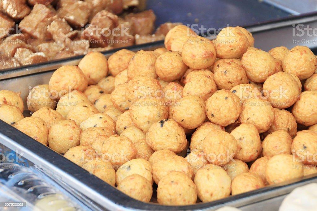 Fried Fishball stock photo