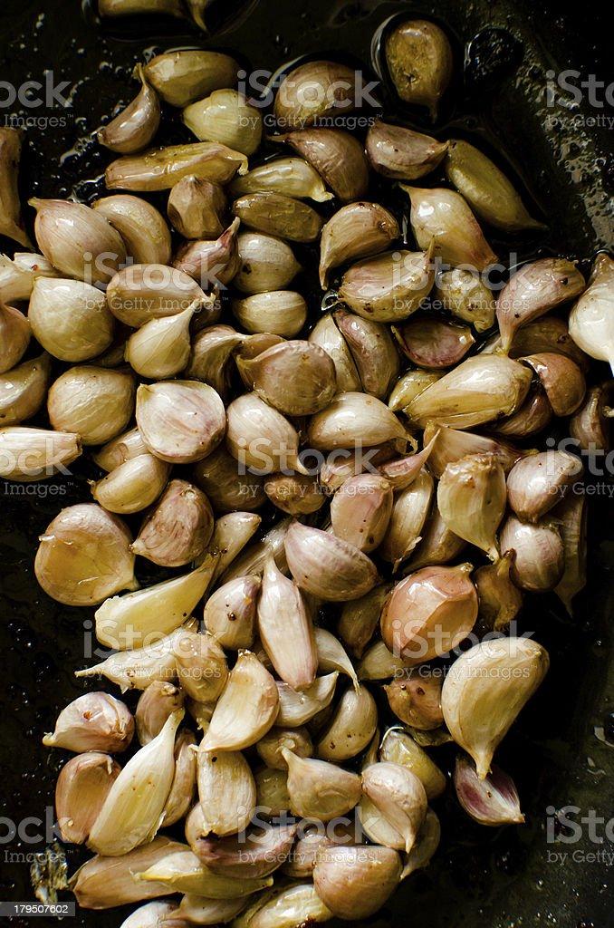 Fried garlic royalty-free stock photo
