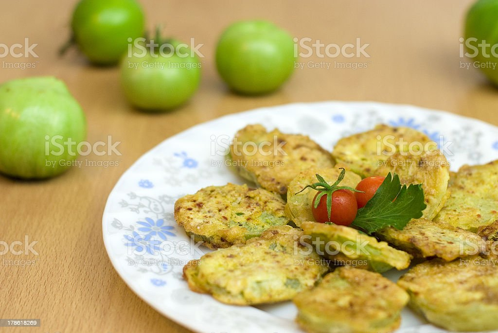 fried green tomatoes royalty-free stock photo