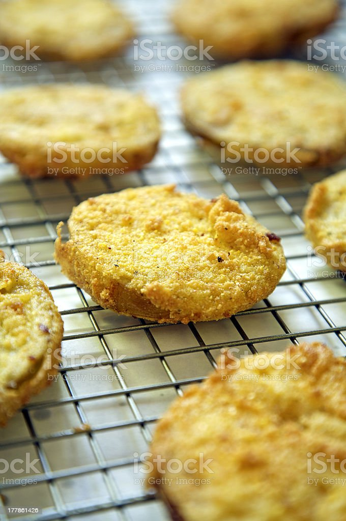 Fried Green Tomatoes Tight stock photo