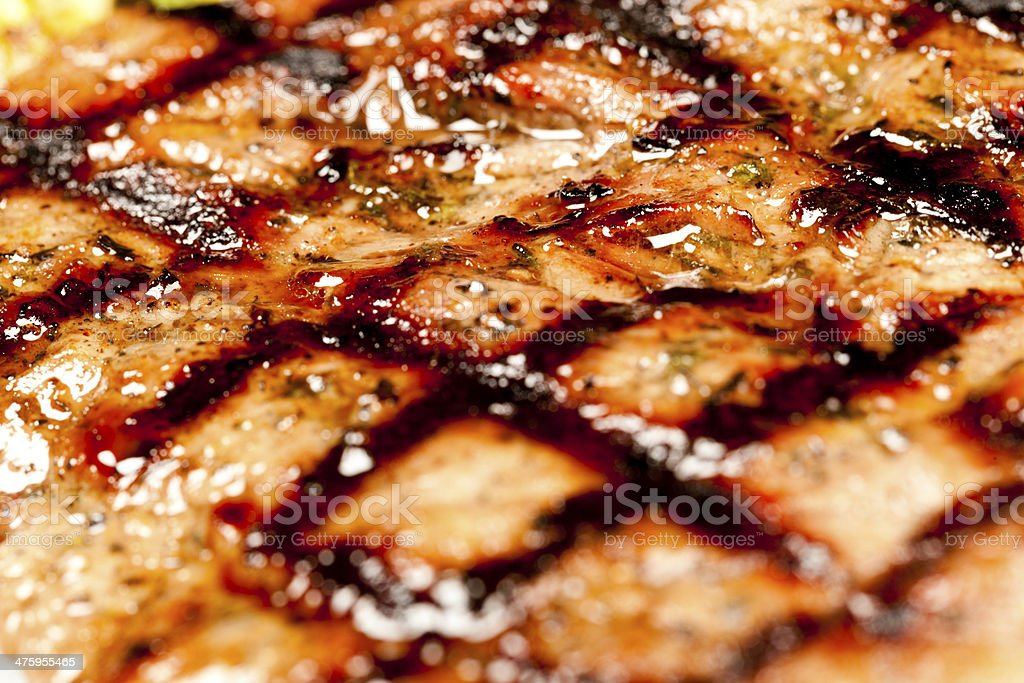 Fried grill barbecue stock photo