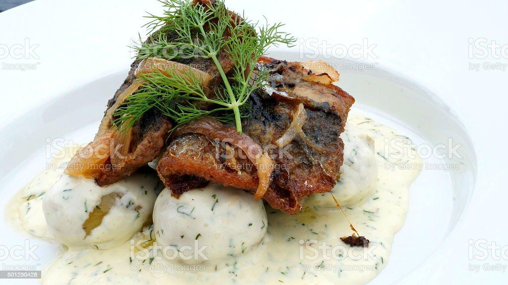 fried herring stock photo