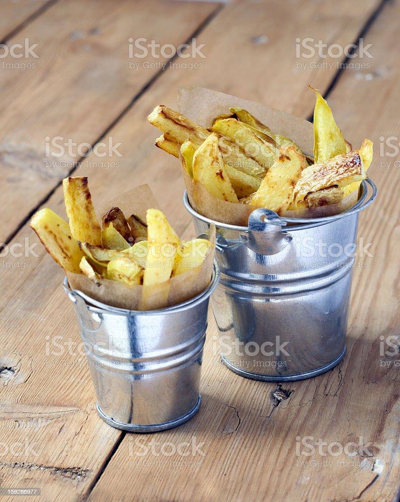 Fried kohlrabi royalty-free stock photo