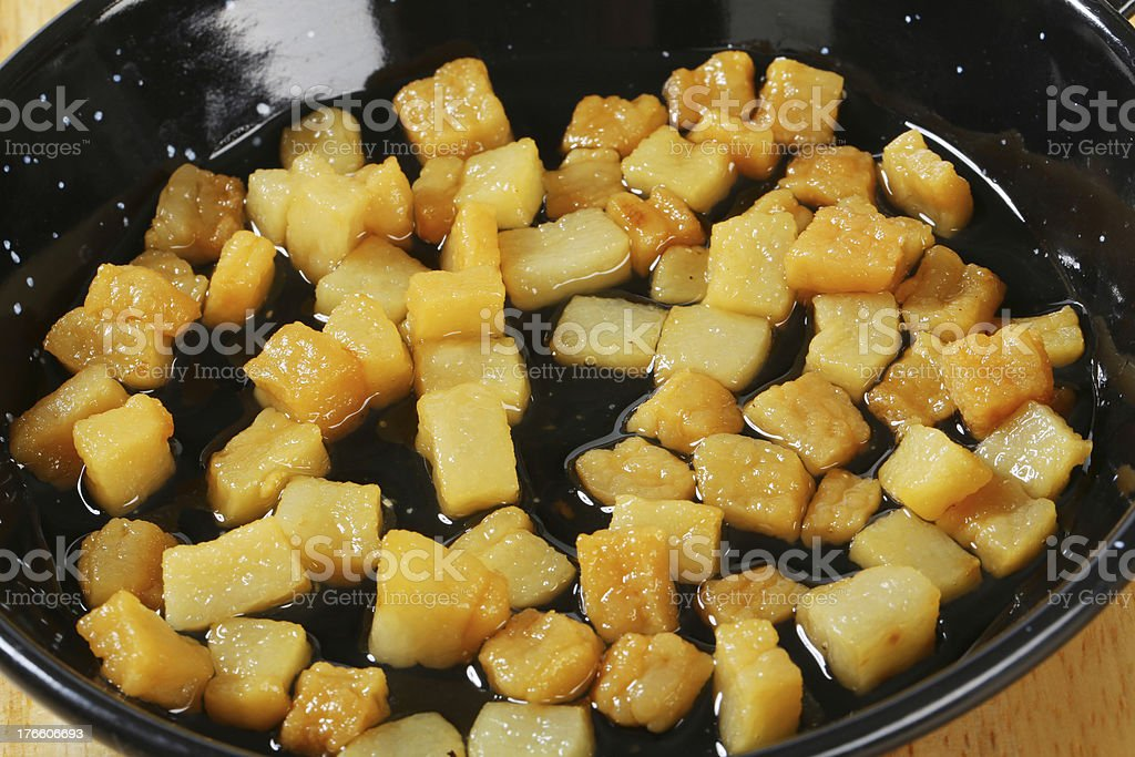 fried lard royalty-free stock photo