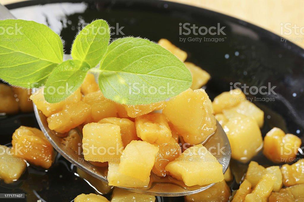 fried lard royalty-free stock photo