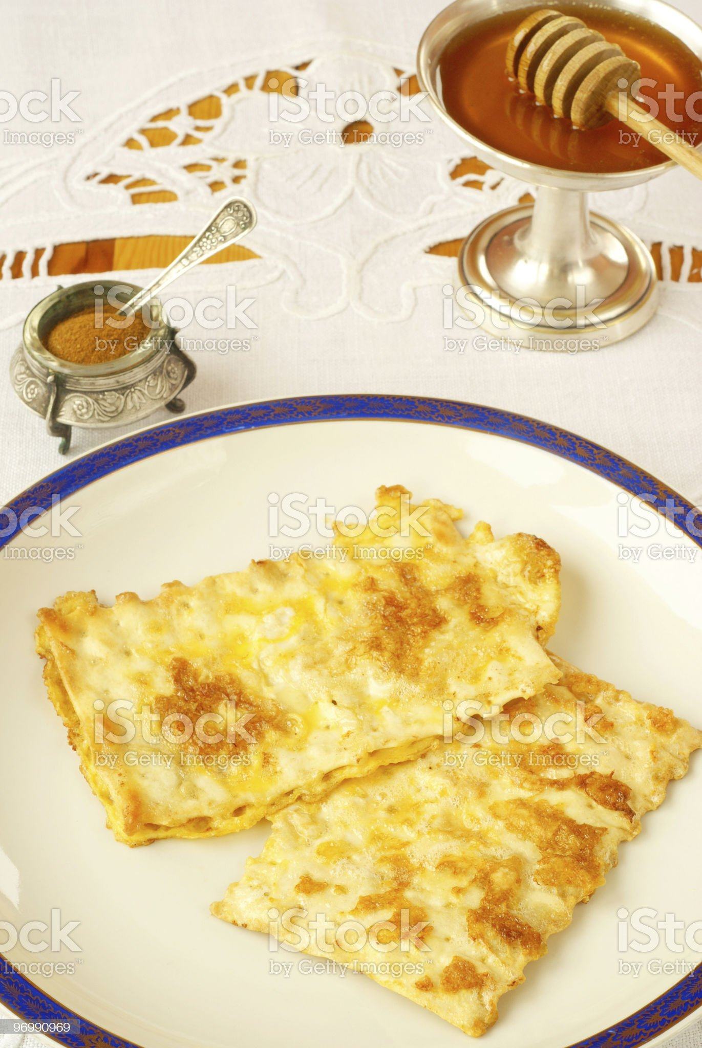 Fried matzo for Passover royalty-free stock photo