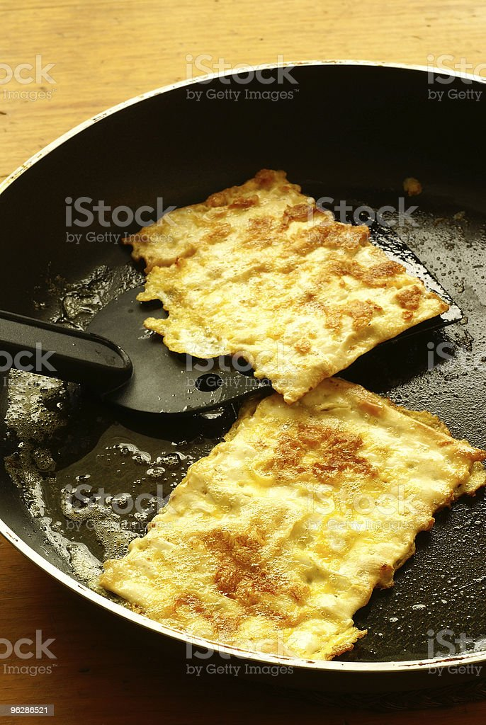 "Fried matzo (""matzo brei"") stock photo"