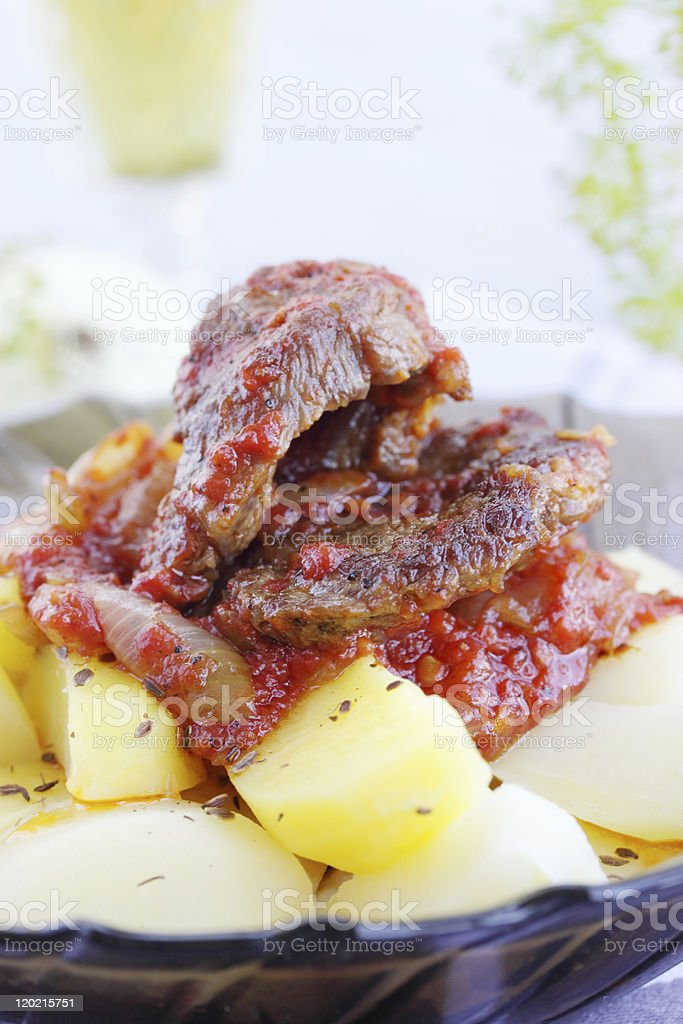 Fried meat royalty-free stock photo