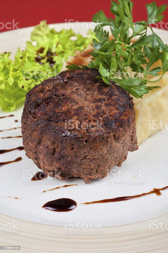Fried meat steak royalty-free stock photo