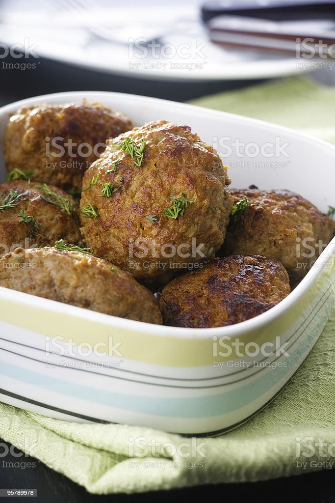 Fried meatballs royalty-free stock photo