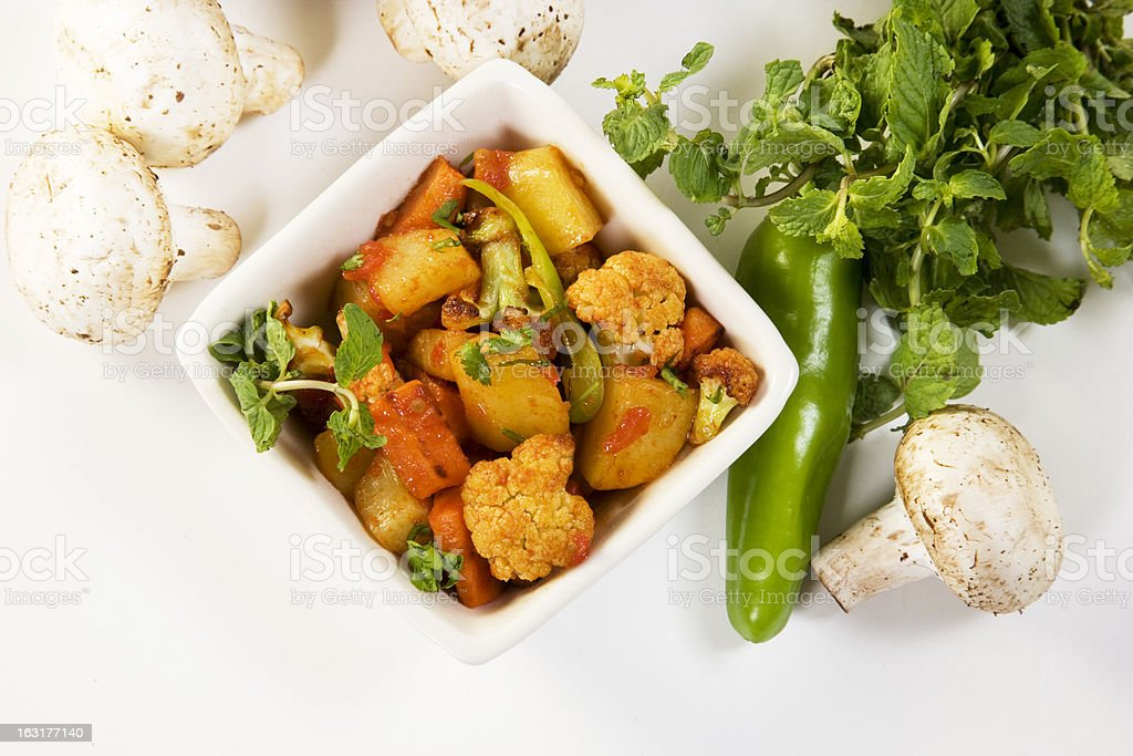 Fried Mixed Vegetable royalty-free stock photo