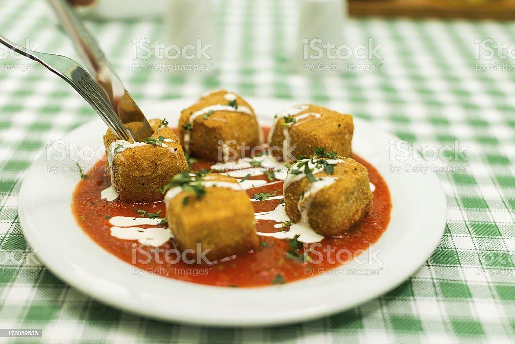 Fried Mozarella stock photo