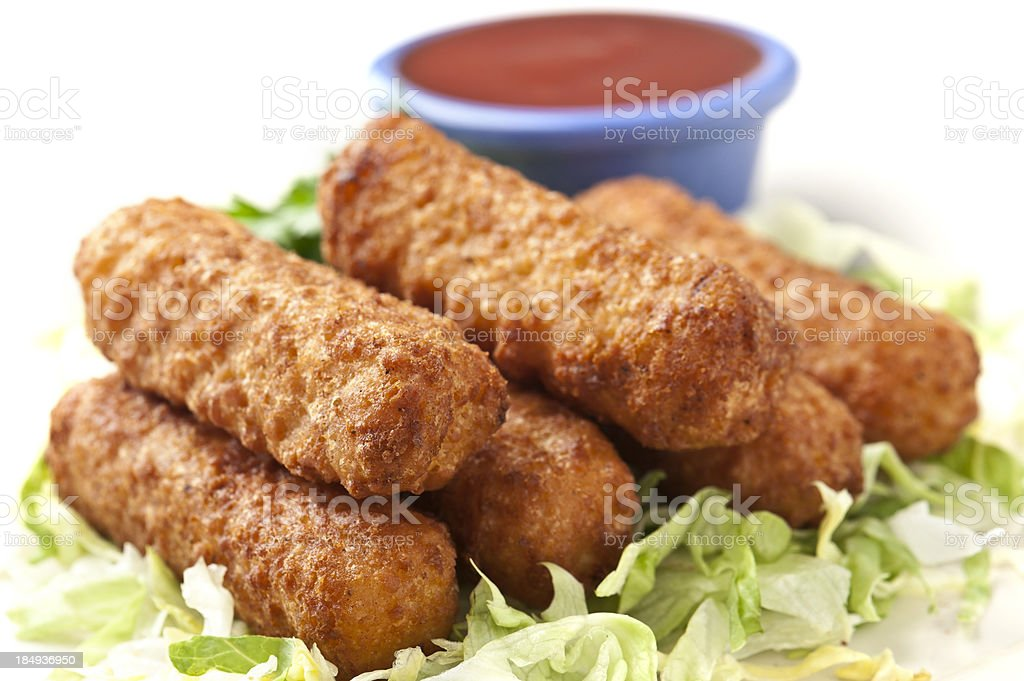 fried mozarella sticks royalty-free stock photo