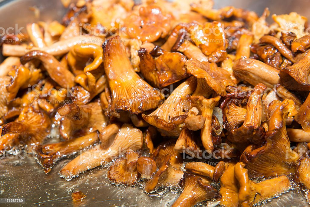 fried mushrooms royalty-free stock photo