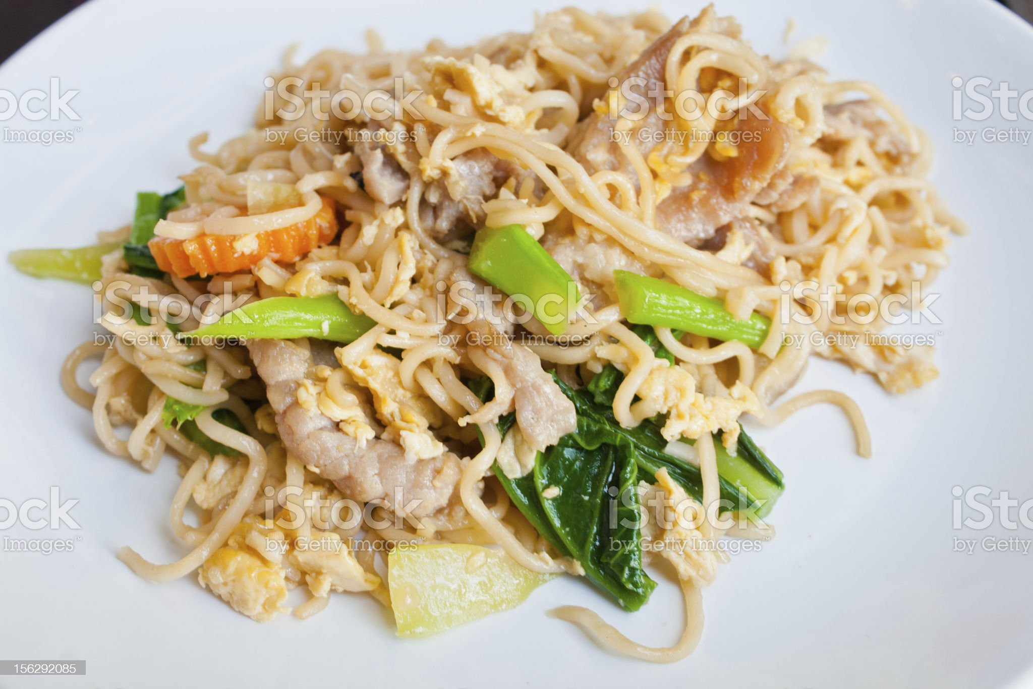 Fried noodle royalty-free stock photo