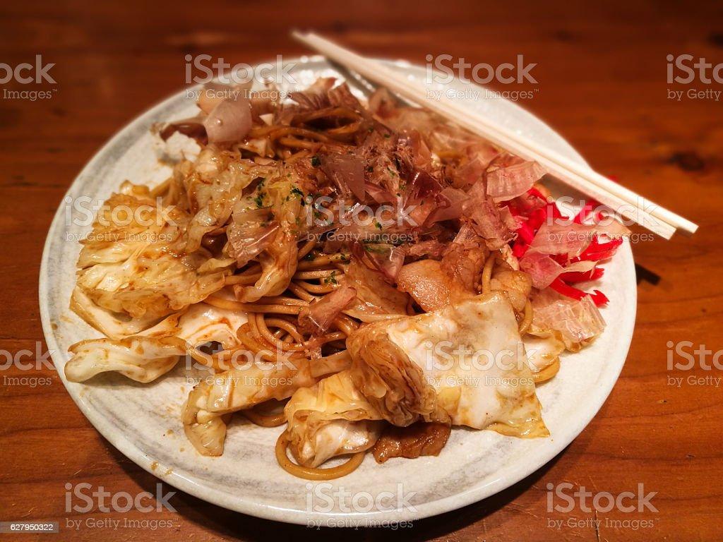fried noodles Yakisoba stock photo