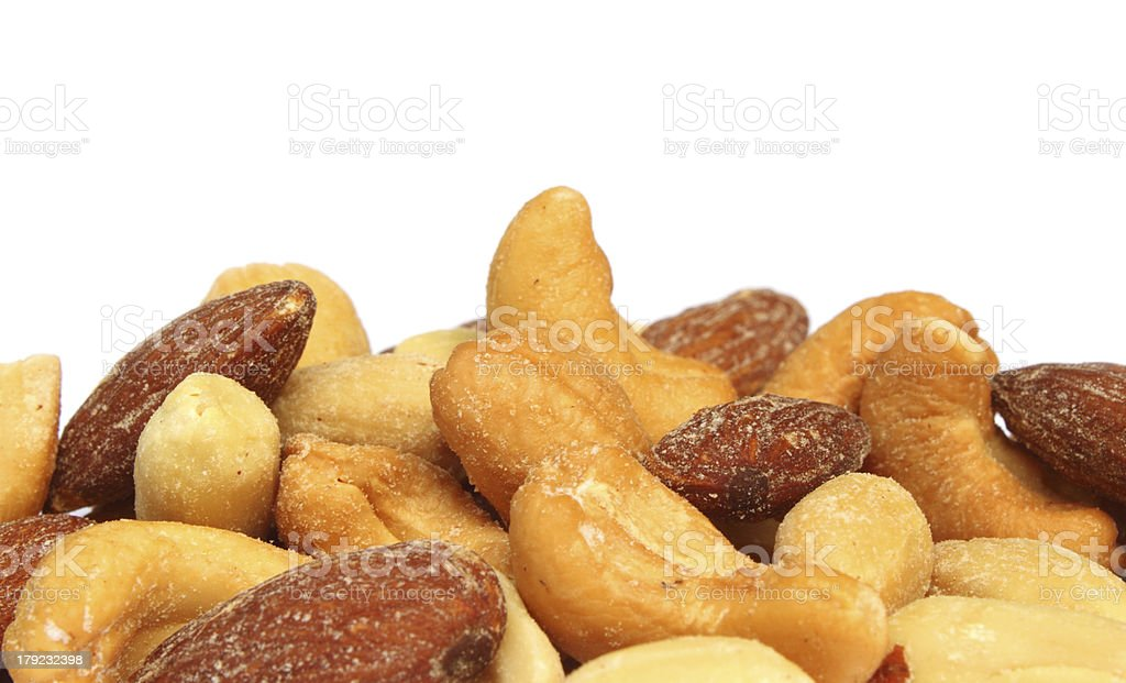 Fried nuts royalty-free stock photo