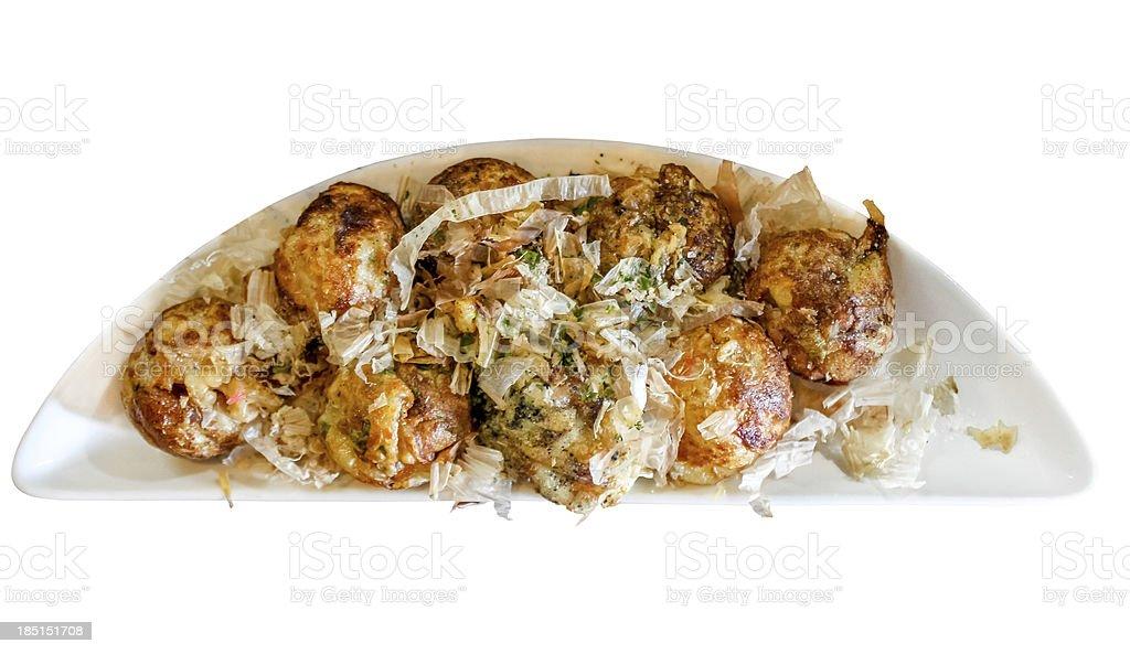 Fried octopus dumplings (Takoyaki) stock photo