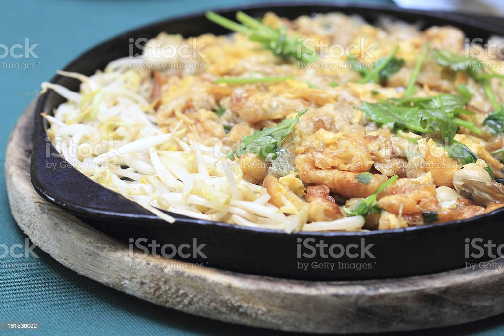 Fried Oyster Omelette Recipe royalty-free stock photo