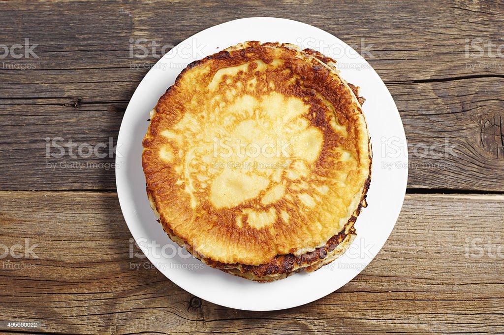 Fried pancakes stock photo
