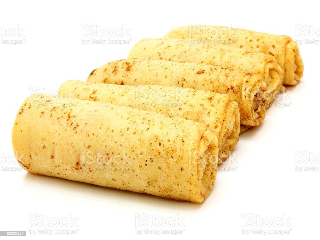 fried pancakes stuffed stock photo