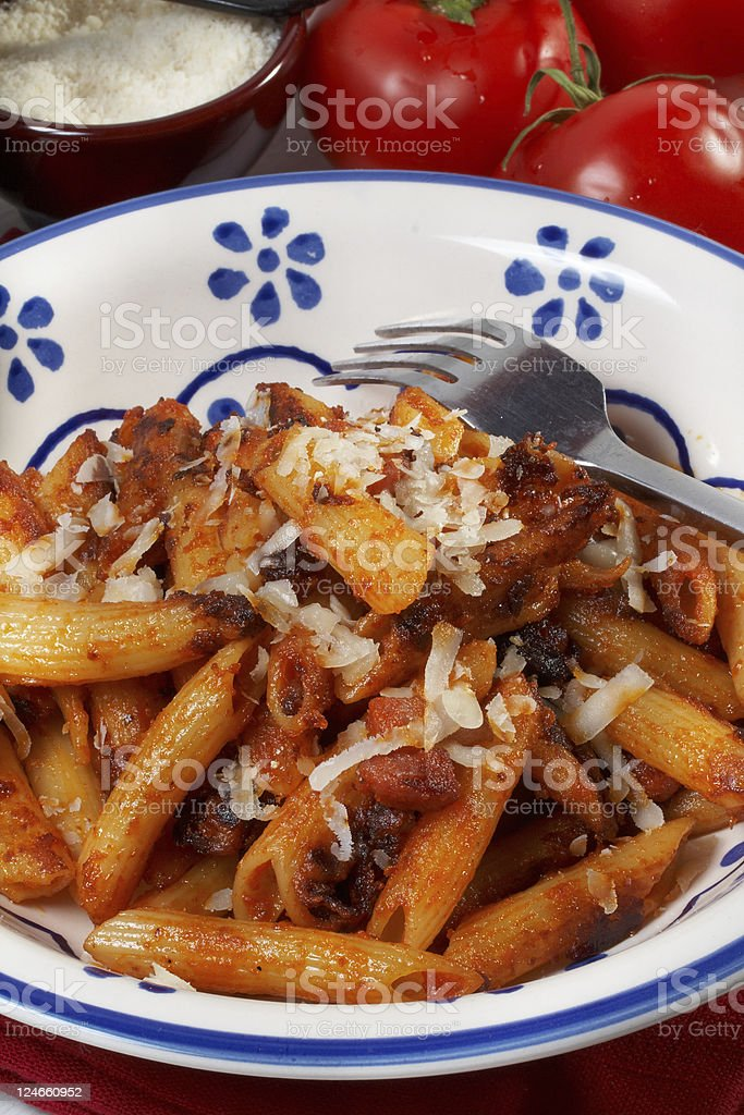 fried pasta royalty-free stock photo