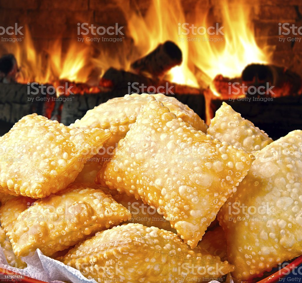 fried pastry stock photo