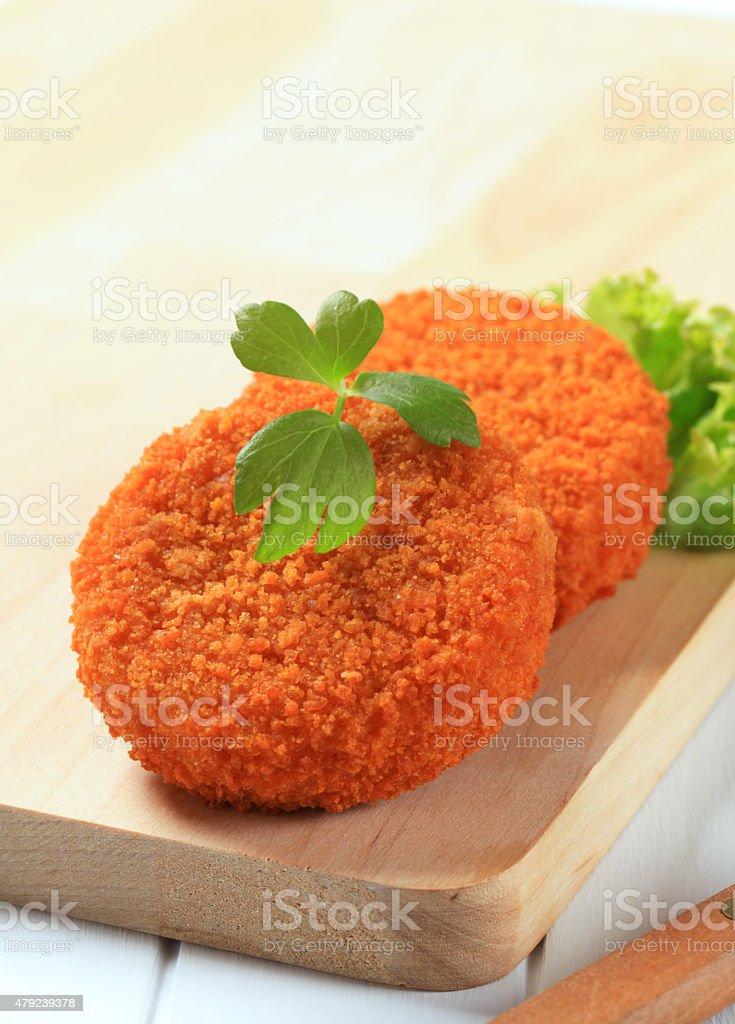 Fried patties stock photo