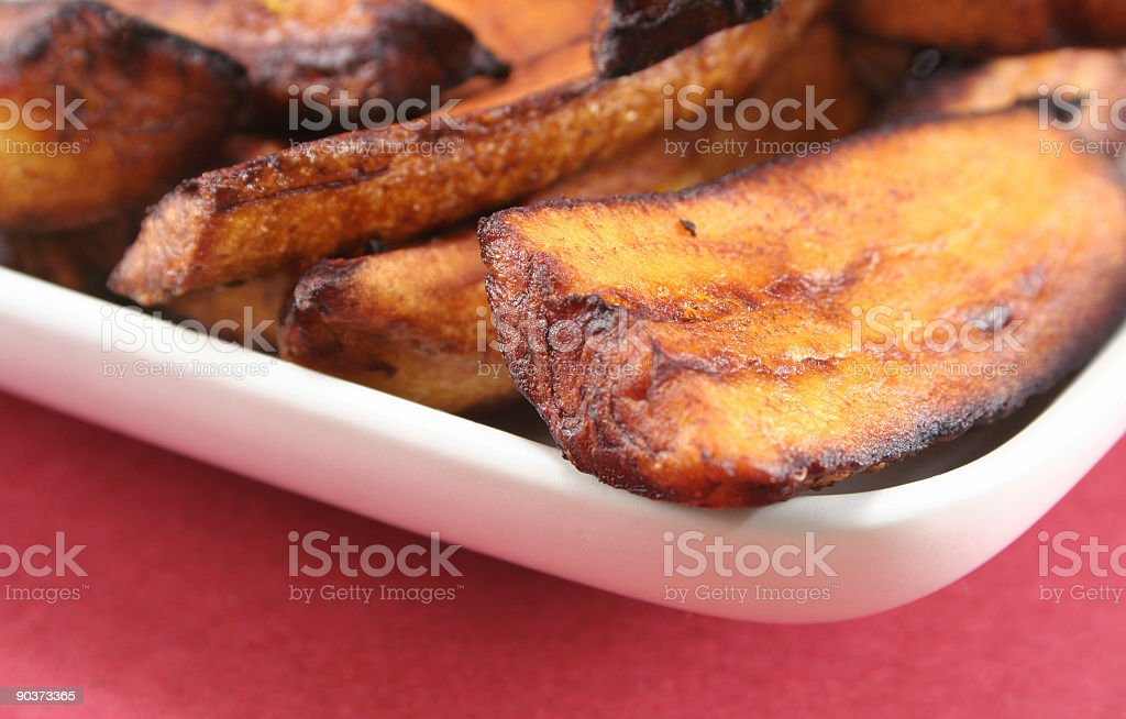 Fried Plantains stock photo