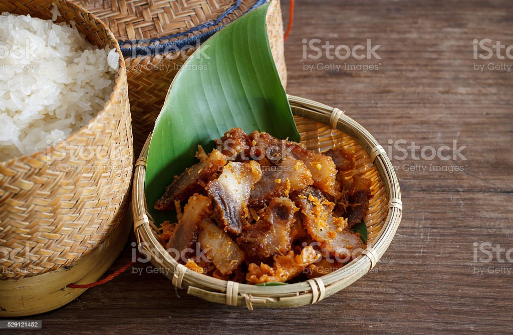 fried pork. stock photo
