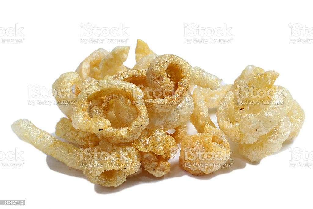 Fried pork rinds stock photo
