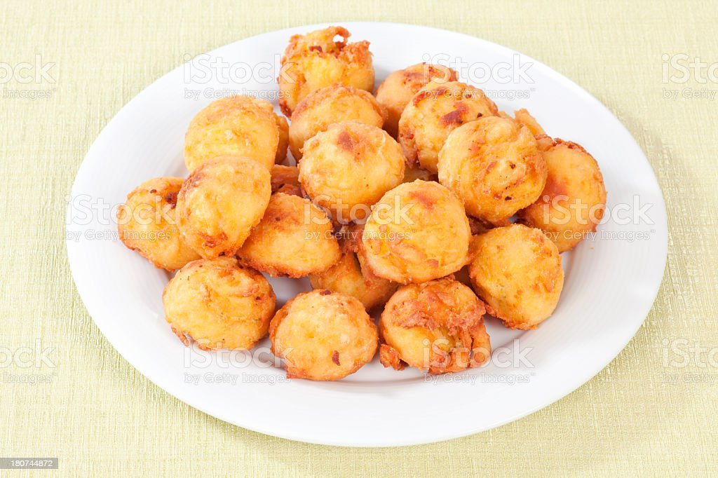 Fried potato croquettes stock photo