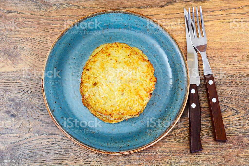 Fried Potato Pancakes. Belarusian and German Cuisine stock photo