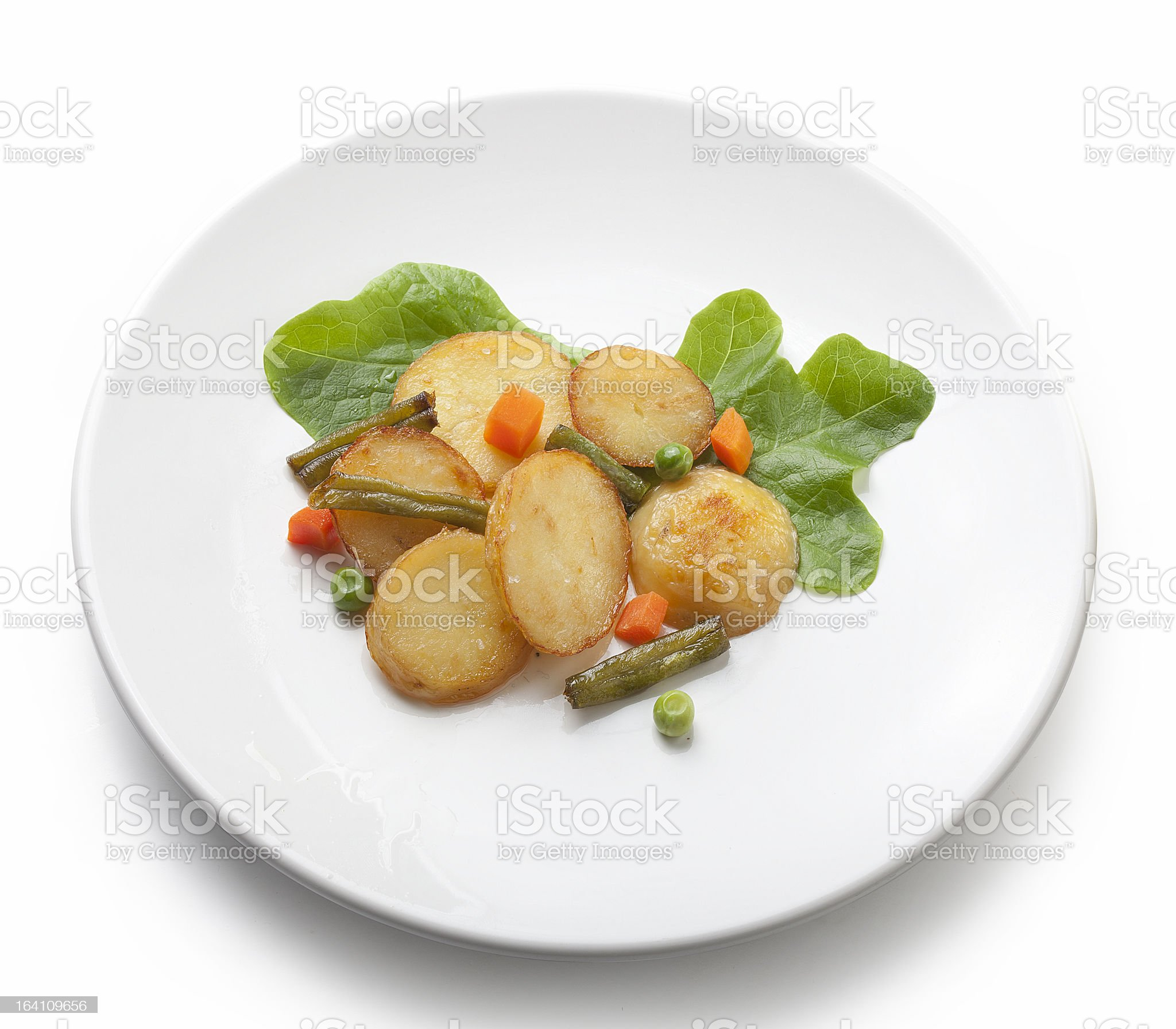 Fried potato royalty-free stock photo