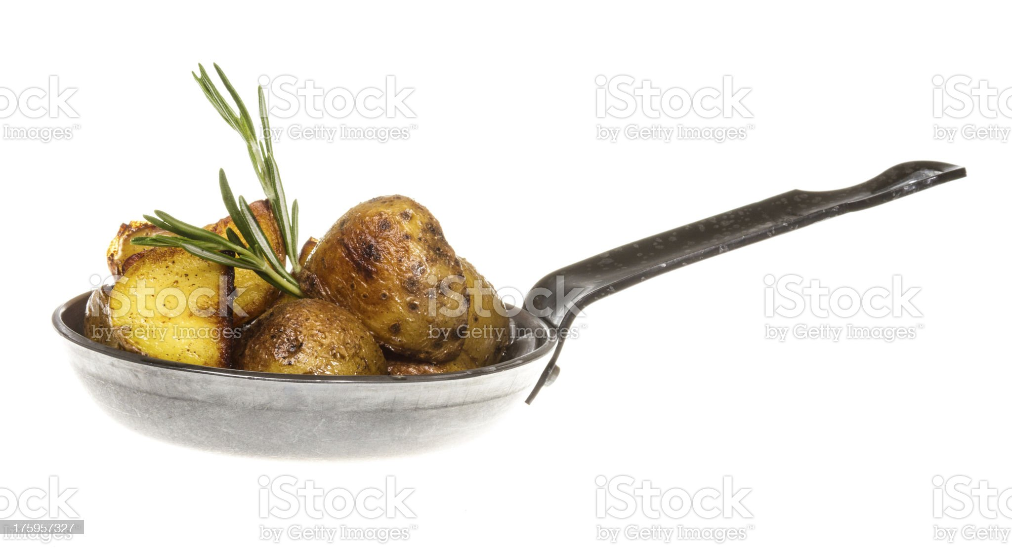 fried potato wth rosmarin royalty-free stock photo