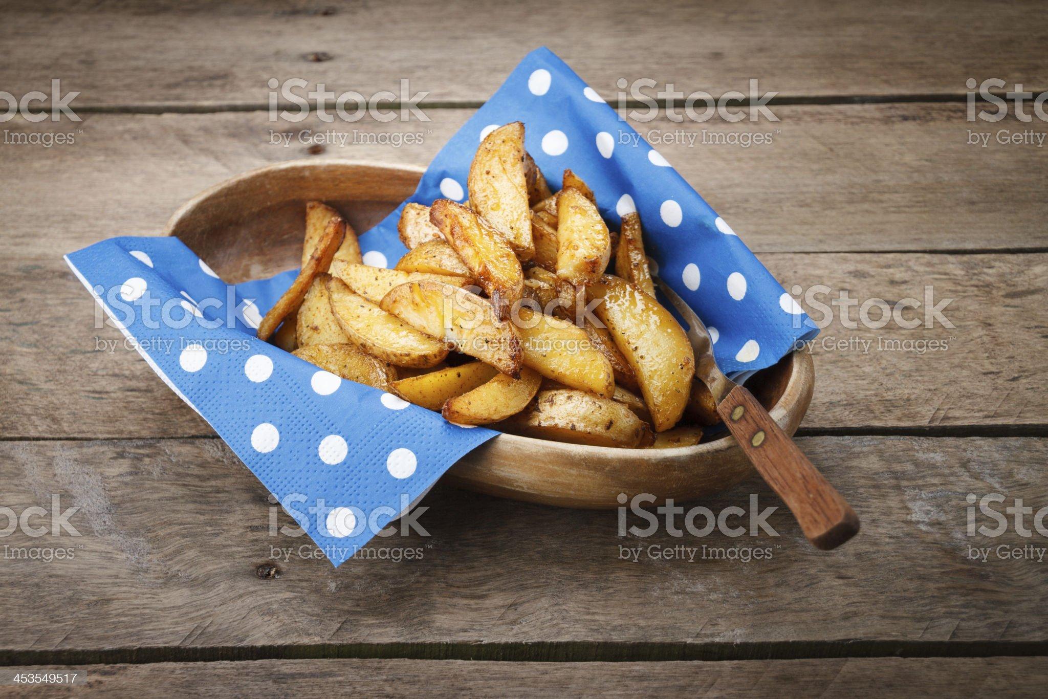 Fried potatoes. royalty-free stock photo