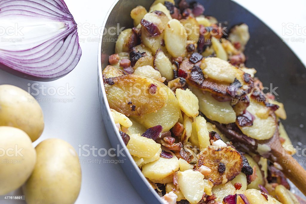 fried potatoes royalty-free stock photo
