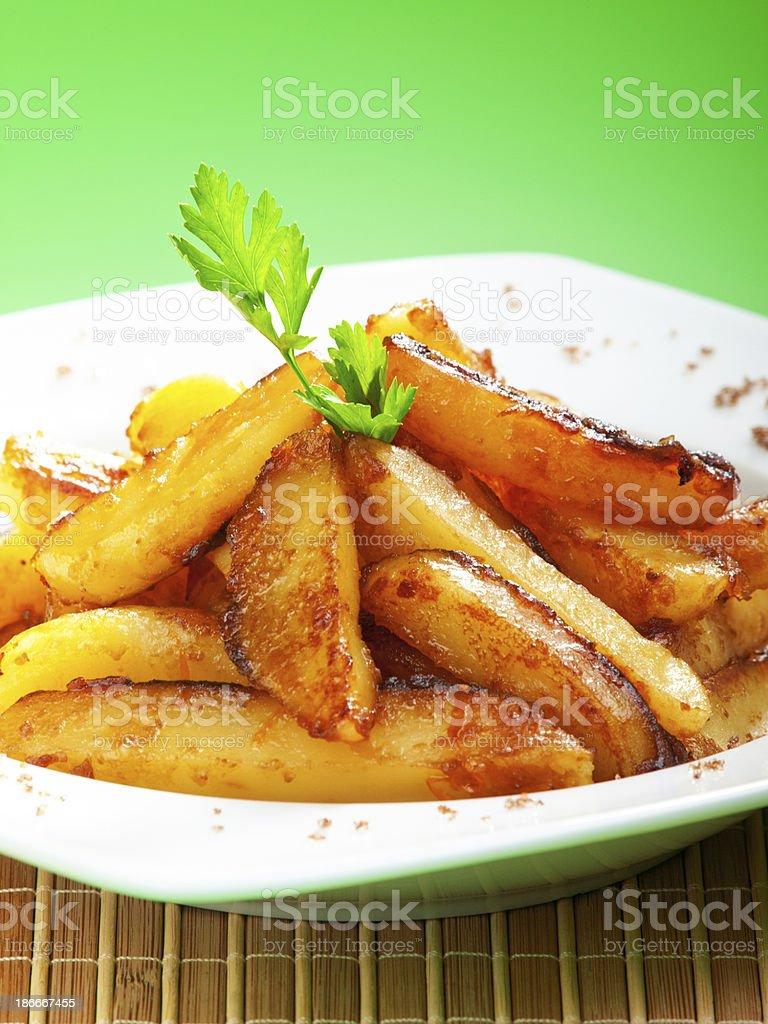 Fried potatos with sugar royalty-free stock photo