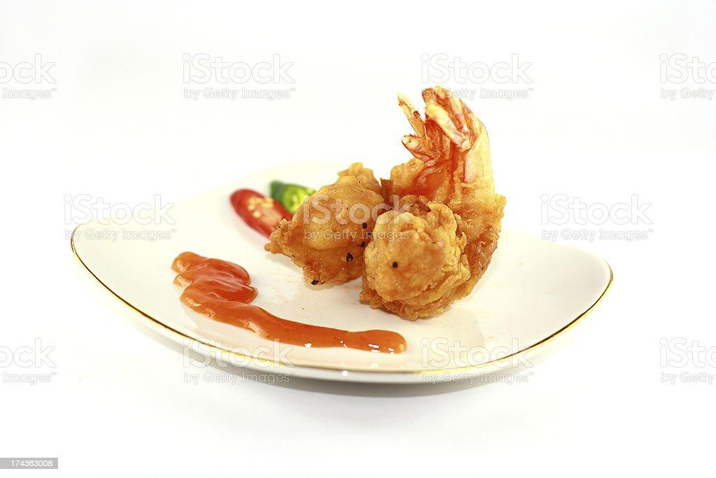 fried prawn royalty-free stock photo