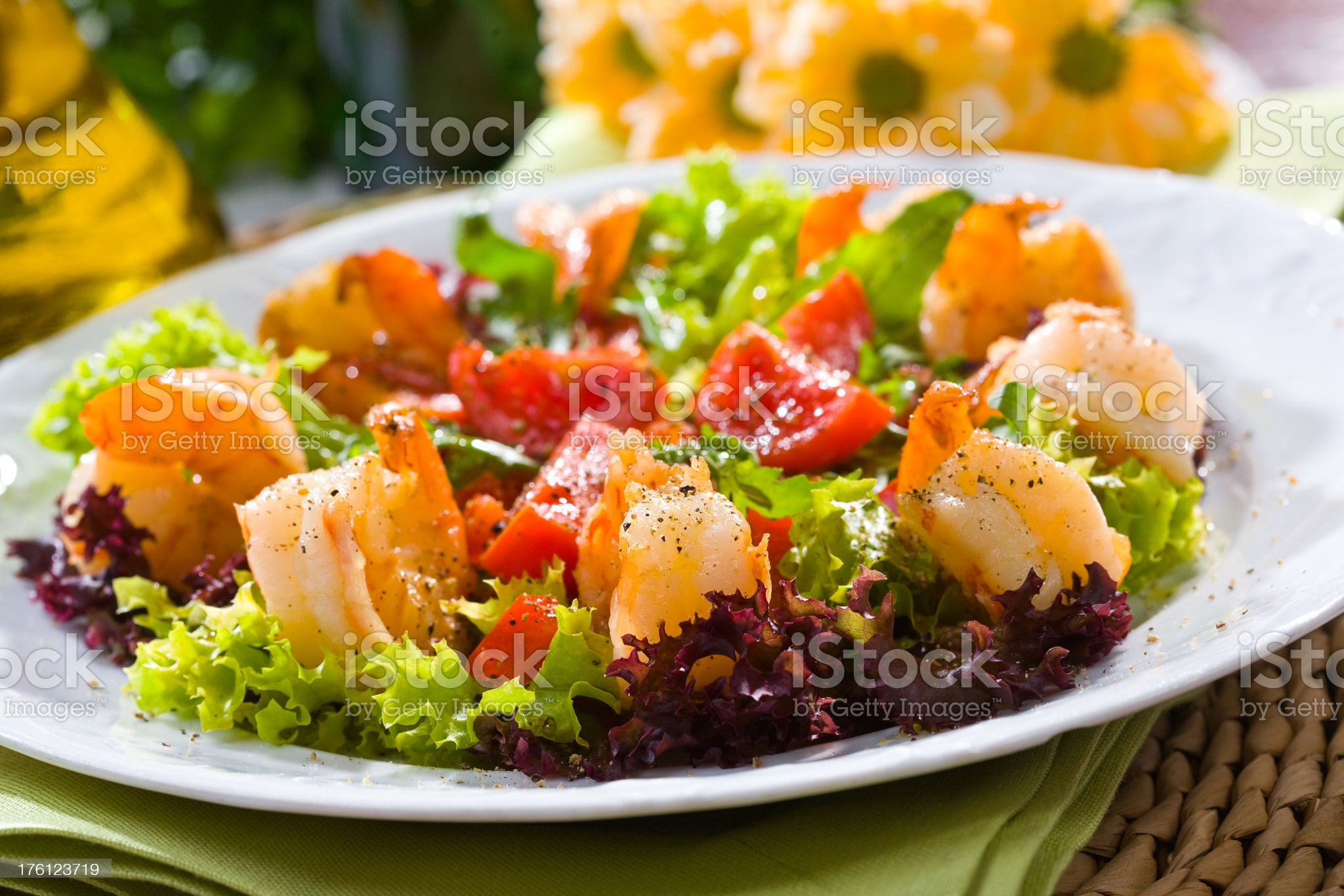 Fried prawn royalty-free stock photo