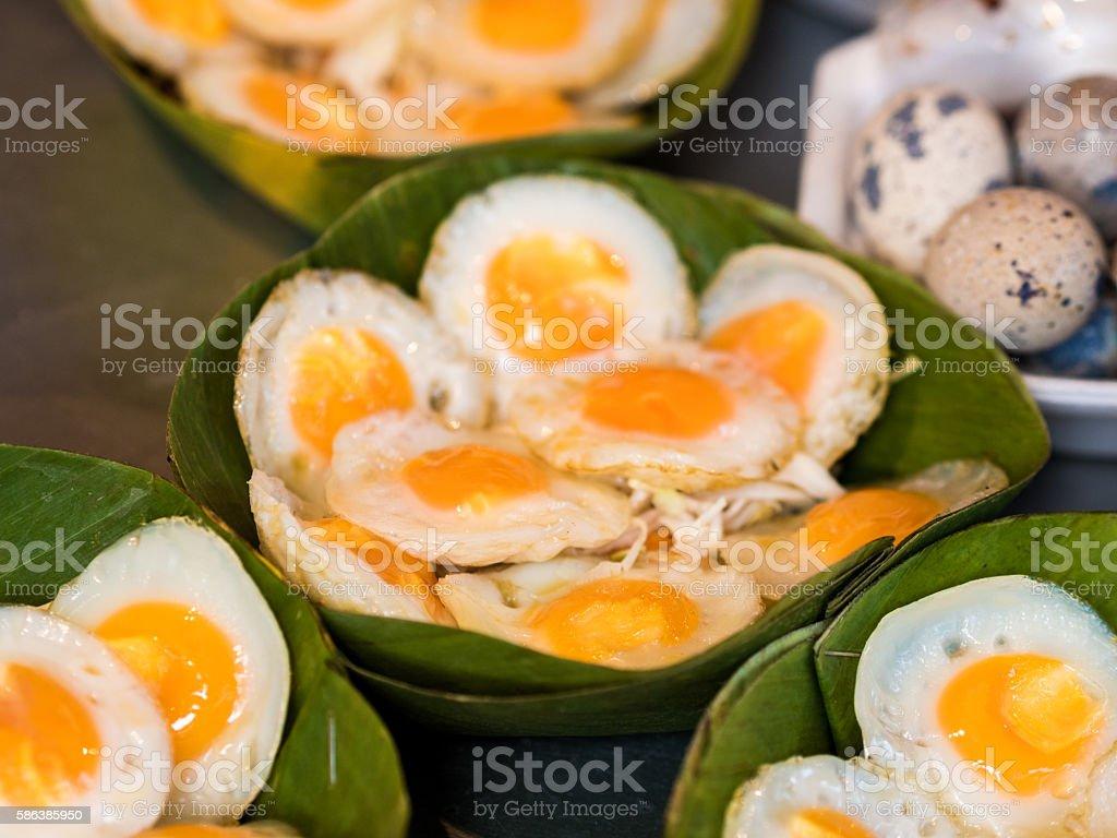 Fried Quail Eggs stock photo