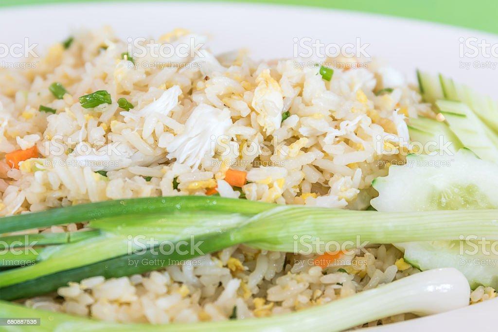 Fried rice thai style stock photo
